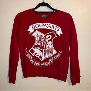 Harry Potter red Hogwarts pullover sweater
